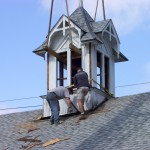 18th & 19th Century Recycling removing a cupola